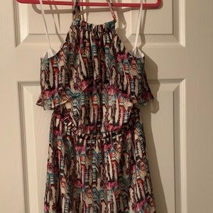 Bebe Halter Tunic/Mini Dress